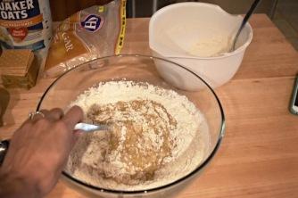 Folding in flour