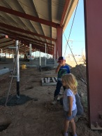 Kids at the barn site
